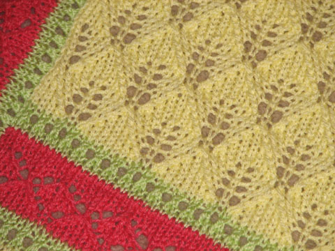 English Knitting Patterns Free : Multi-cultural Lace Baby Blanket - Afghans Baby - - Mamas Stitchery Proj...